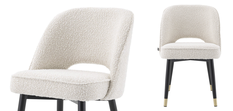 Комплект из двух стульев Eichholtz Dining Chair Cliff set of 2 Boucle cream  - фото 2