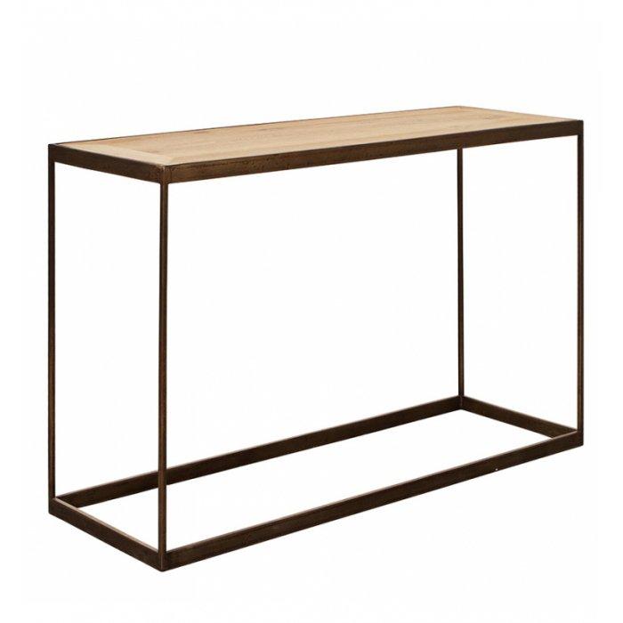 Консоль Industrial Oak Console Table   - фото 1