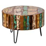 Журнальный стол Multicolored Antique Wood Circle  - фото 1