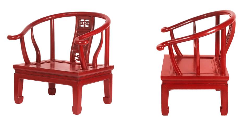 Кресло для медитации Chinese Armchair Red   - фото 2