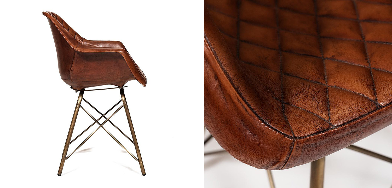 Кресло Leather Industrial armchair  - фото 2