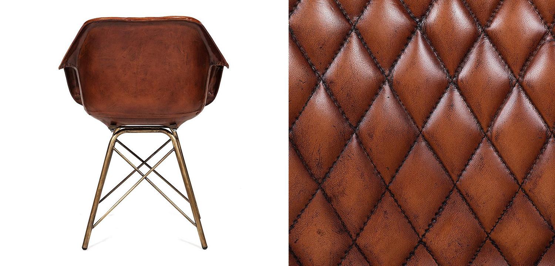 Кресло Leather Industrial armchair  - фото 3