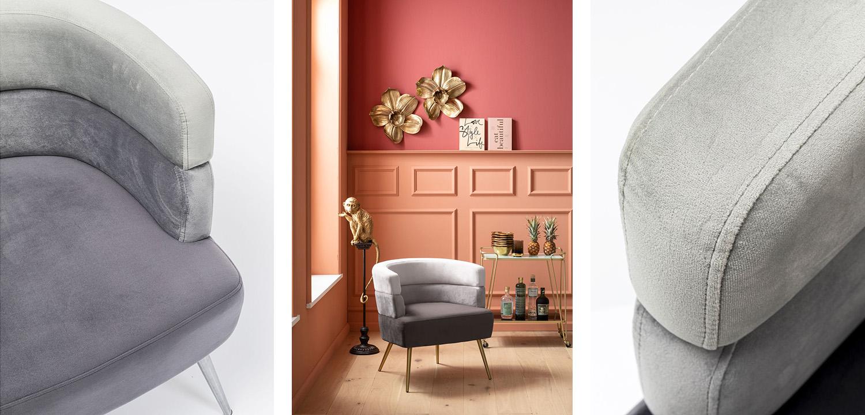 Кресло Gray Velvet Superposition  - фото 2