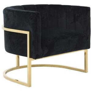 Кресло Accent Velvet chair black