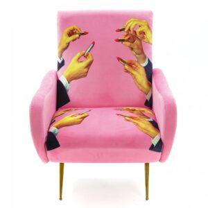 Кресло Seletti Armchair Lipsticks Pink