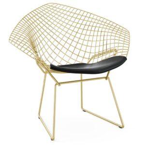 Кресло Bertoia Diamond Chair Gold  designed by Harry Bertoia