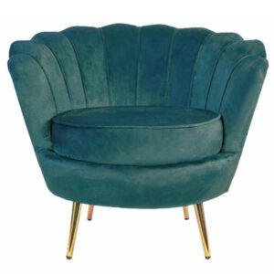 Кресло Бирюзовый велюр Trapezium Turquoise velvet