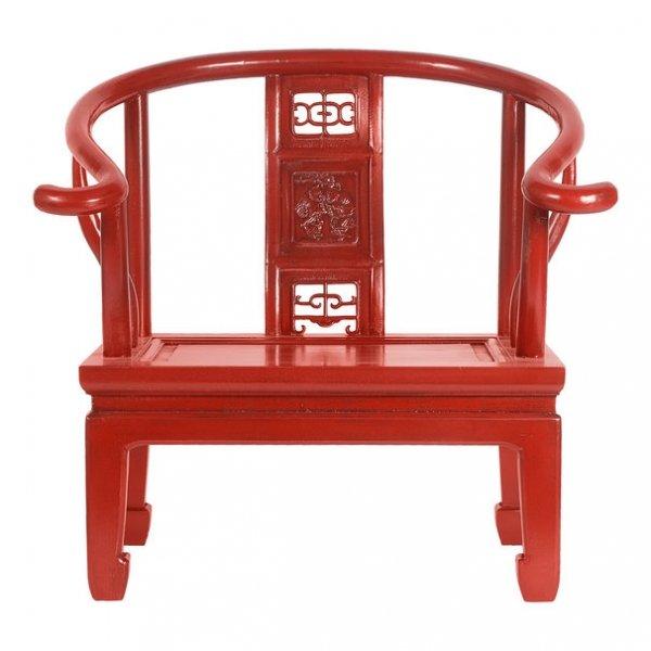 Кресло для медитации Chinese Armchair Red   - фото 1