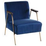 Кресло Domitila Armchair blue  - фото 1