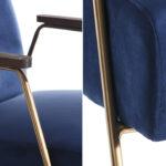 Кресло Domitila Armchair blue  - фото 2