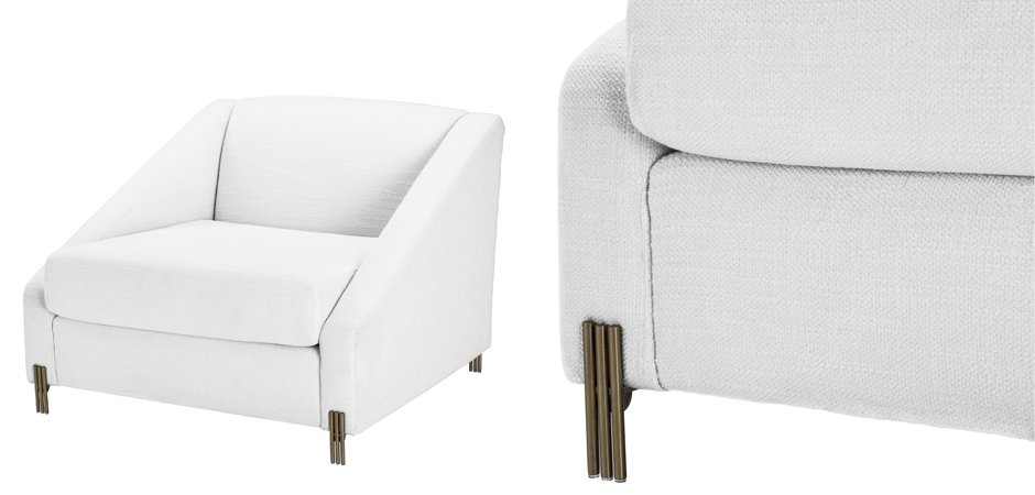 Кресло Eichholtz Chair Candice white  - фото 4