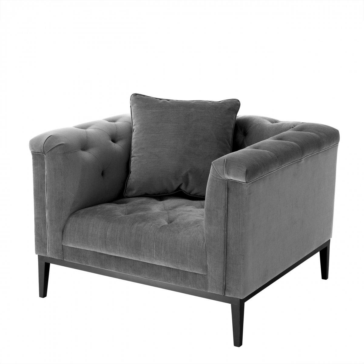 Кресло Eichholtz Chair Cesare Grey  - фото 1