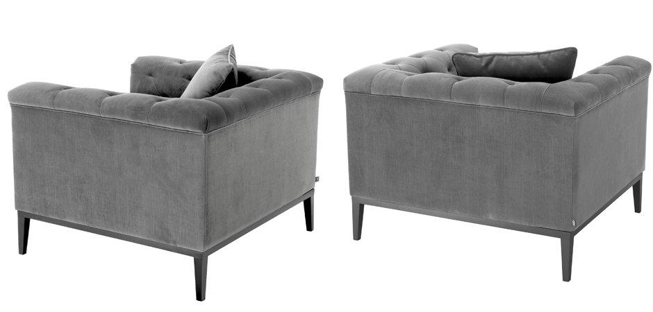 Кресло Eichholtz Chair Cesare Grey  - фото 2