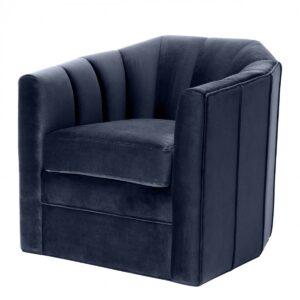 Кресло Eichholtz Chair Delancey Midnight Blue