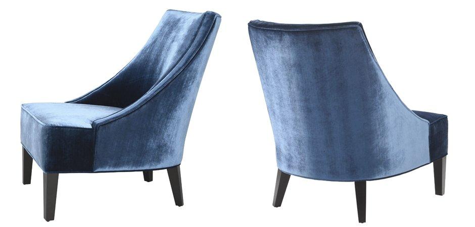 Кресло Eichholtz Chair Dulwich Blue  - фото 2