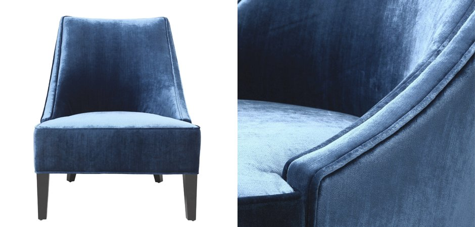 Кресло Eichholtz Chair Dulwich Blue  - фото 3