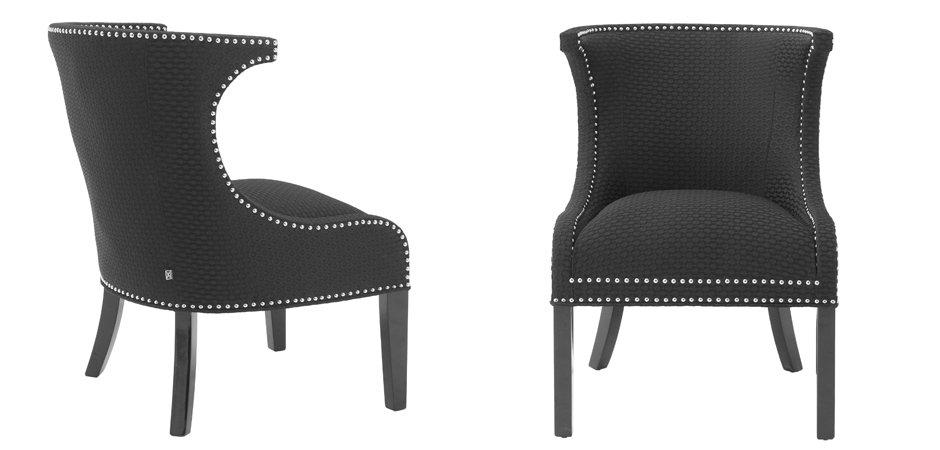Кресло Eichholtz Chair Elson black  - фото 3