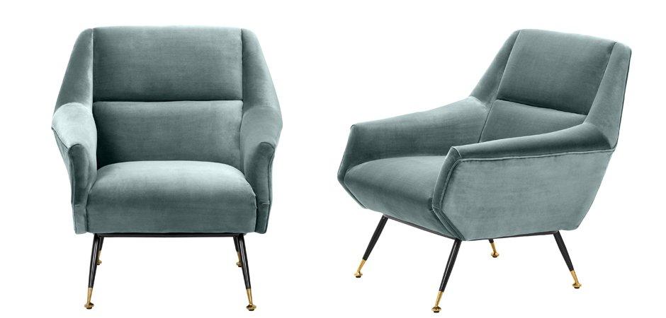 Кресло Eichholtz Chair Exile Turquoise  - фото 2