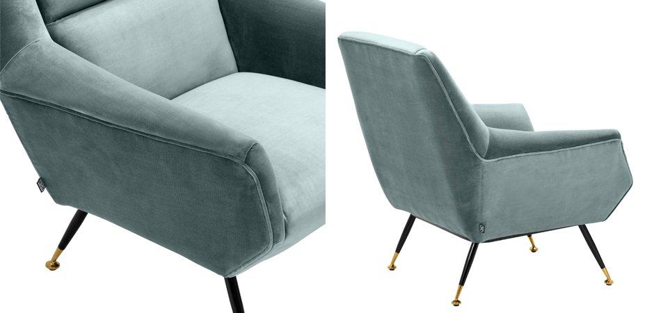 Кресло Eichholtz Chair Exile Turquoise  - фото 3
