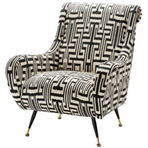Кресло Eichholtz Chair Giardino Ozbek Black