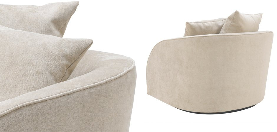 Кресло Eichholtz Chair Les Palmiers Greige  - фото 3