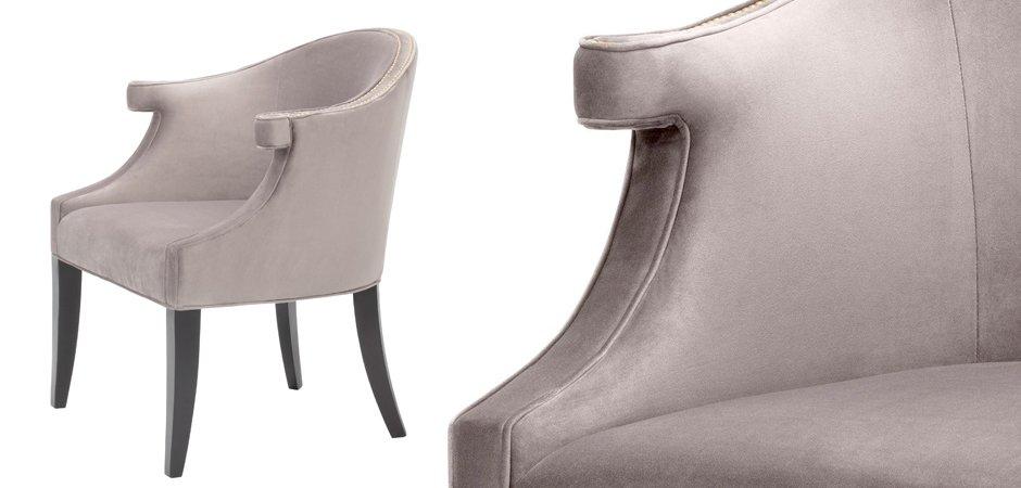 Кресло Eichholtz Chair Margaux taupe  - фото 3