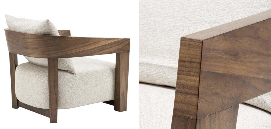 Кресло Eichholtz Chair Rubautelli Walnut  - фото 2