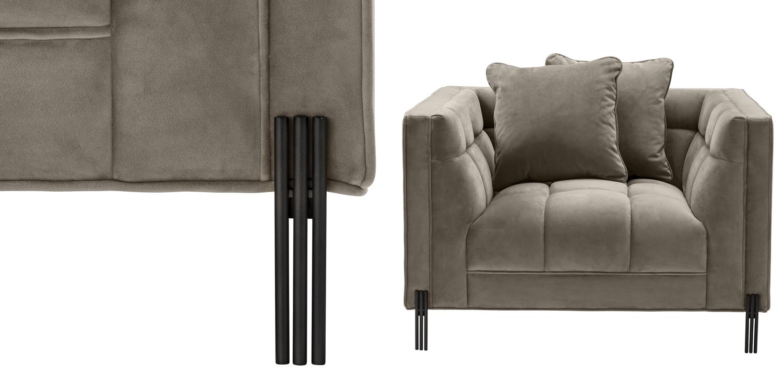 Кресло Eichholtz Chair Sienna greige  - фото 2