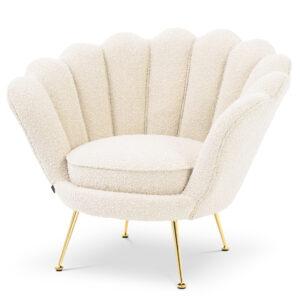 Кресло Eichholtz Chair Trapezium Boucle cream