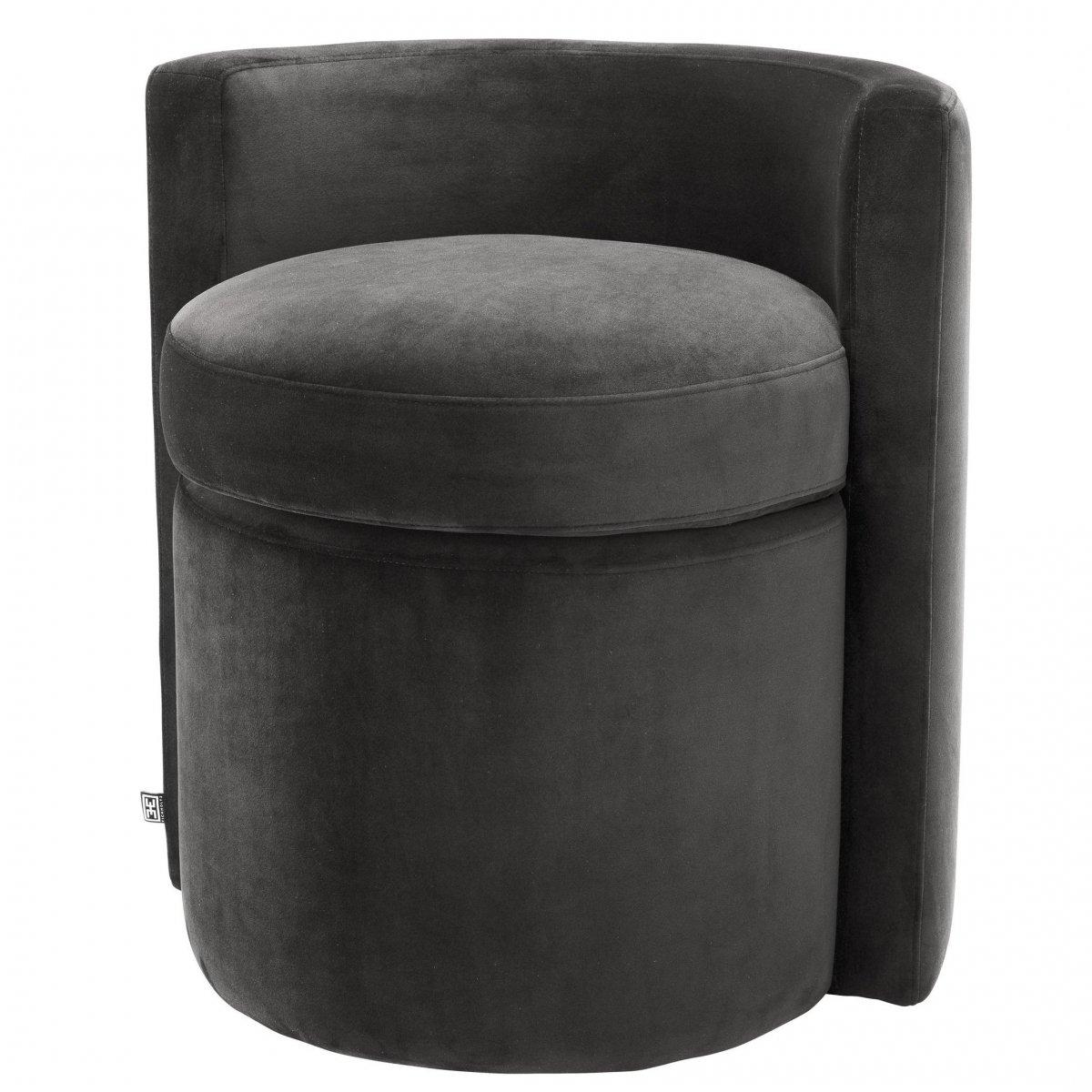 Кресло Eichholtz Stool Arcadia dark grey  - фото 1