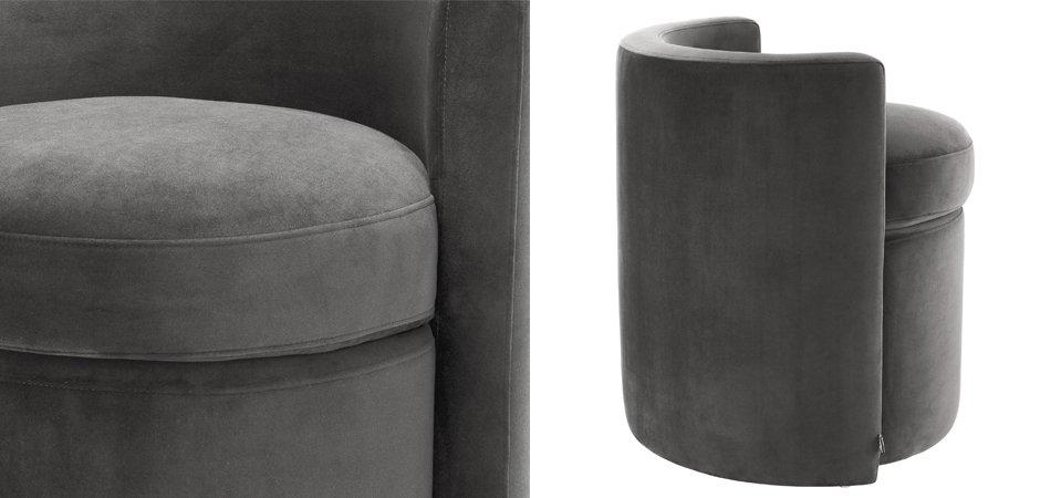 Кресло Eichholtz Stool Arcadia dark grey  - фото 2