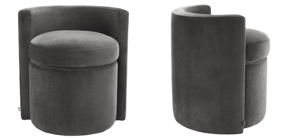 Кресло Eichholtz Stool Arcadia dark grey  - фото 3
