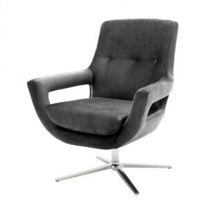 Кресло Eichholtz Swivel Chair Flavio Grey