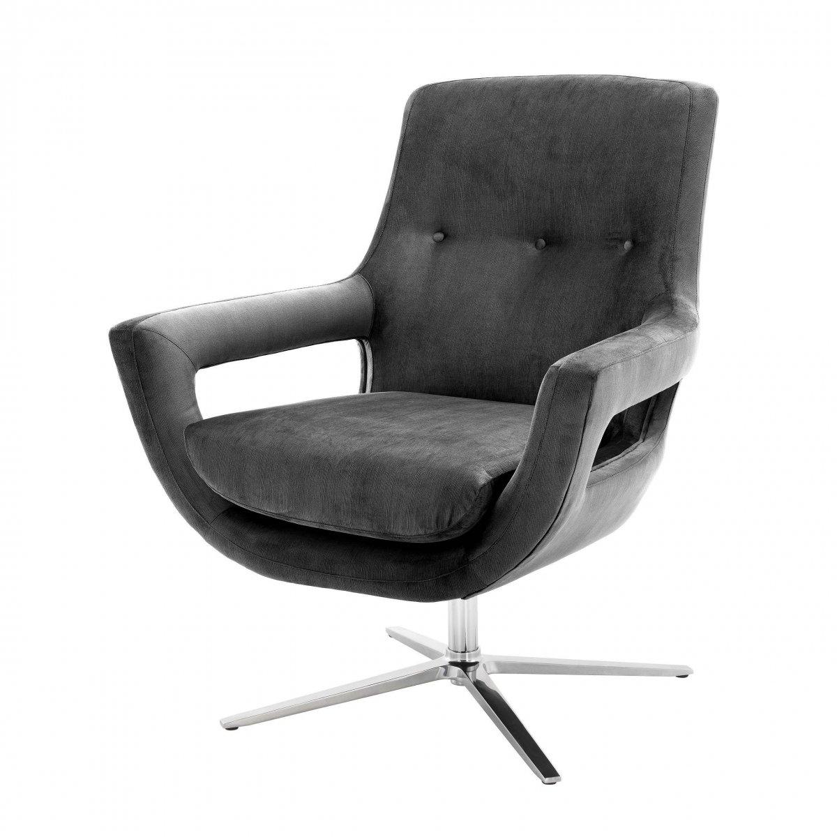 Кресло Eichholtz Swivel Chair Flavio Grey  - фото 1
