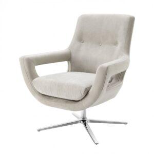 Кресло Eichholtz Swivel Chair Flavio Pebble Grey