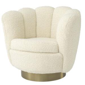 Кресло Eichholtz Swivel Chair Mirage cream