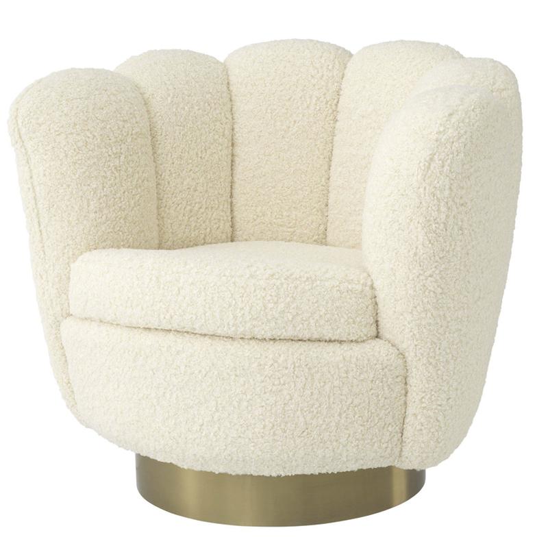 Кресло Eichholtz Swivel Chair Mirage cream  - фото 1