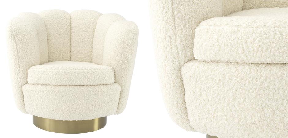 Кресло Eichholtz Swivel Chair Mirage cream  - фото 2