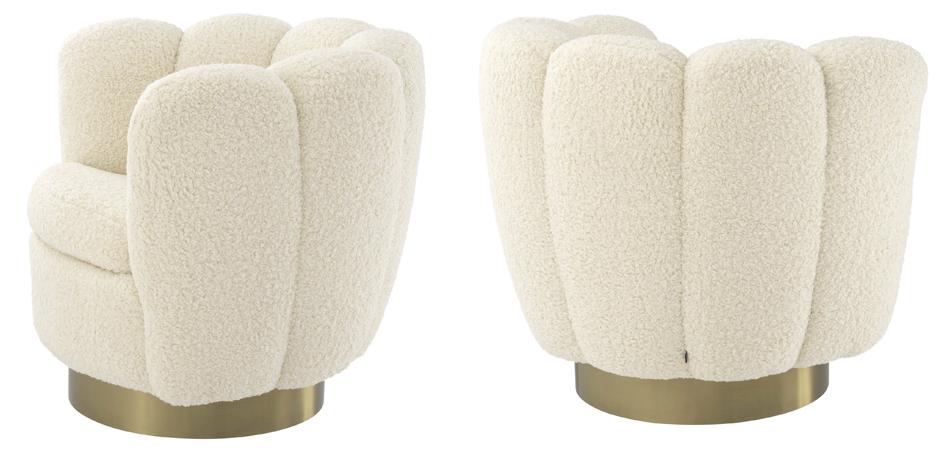 Кресло Eichholtz Swivel Chair Mirage cream  - фото 3