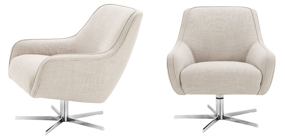 Кресло Eichholtz Swivel Chair Serena Natural  - фото 2