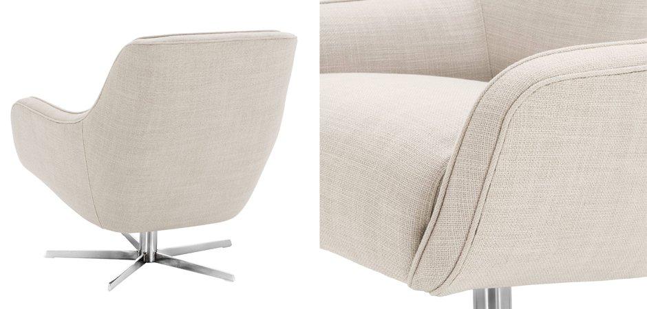 Кресло Eichholtz Swivel Chair Serena Natural  - фото 3