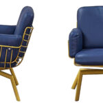 Кресло Frankie Armchair blue  - фото 3