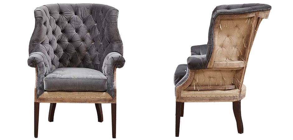 Кресло Gamilton Armchair Gray  - фото 2