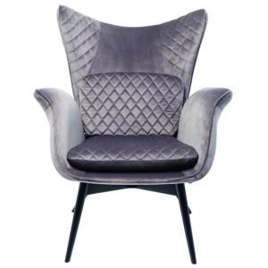Кресло Gray Velvet Throne