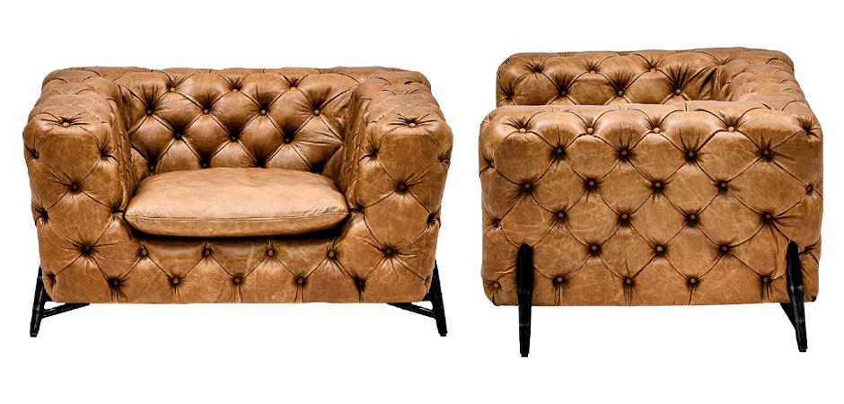 Кресло Hendrica Capitone Chair  - фото 2