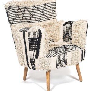 Кресло KELIM Pattern black and white Chair
