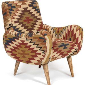 Кресло KELIM Pattern Brown Chair I