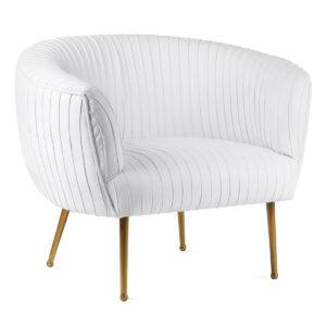 Кресло Kelly Wearstler SOUFFLE CHAIR - RUCHED Milk  designed by Kelly Wearstler