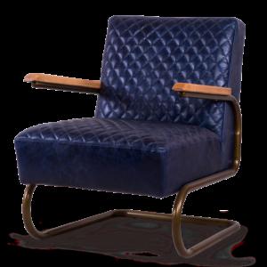 Кресло кожаное Amorfo blue