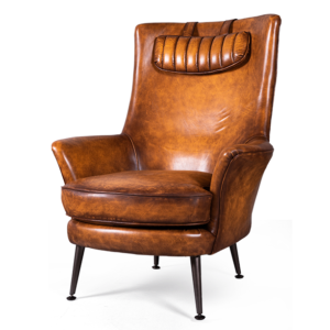 Кресло кожаное Old Town Counsil brown